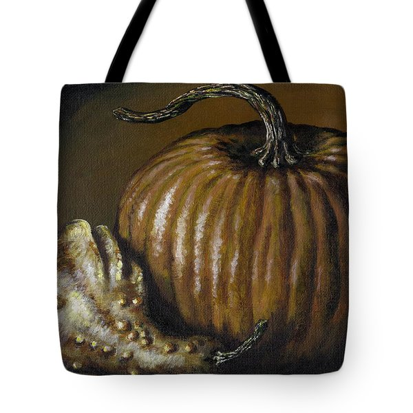 Pumpkin And Winged Gourd Tote Bag by Adam Zebediah Joseph