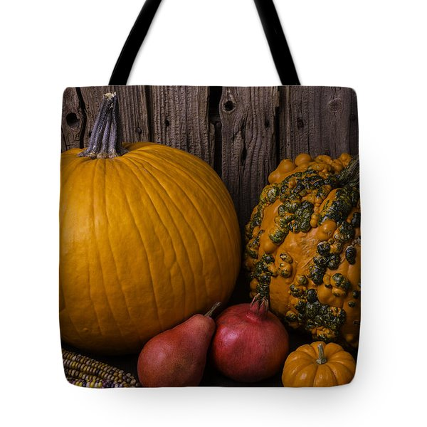Pumpkin Autumn Still Life Tote Bag