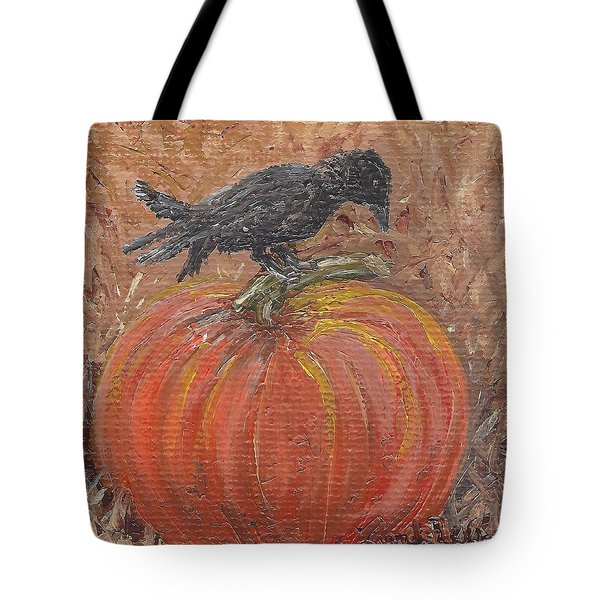 Pumpkin Crow Tote Bag
