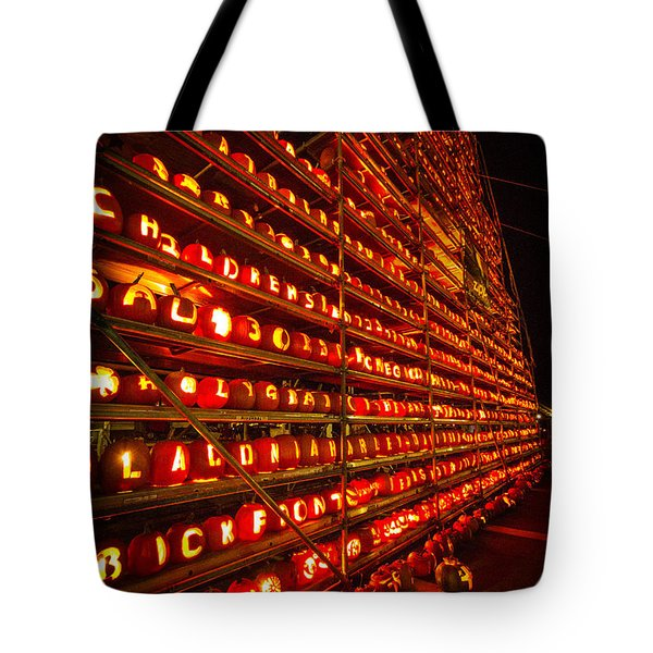 Tote Bag featuring the photograph Pumpkin Festival 2015 by Robert Clifford