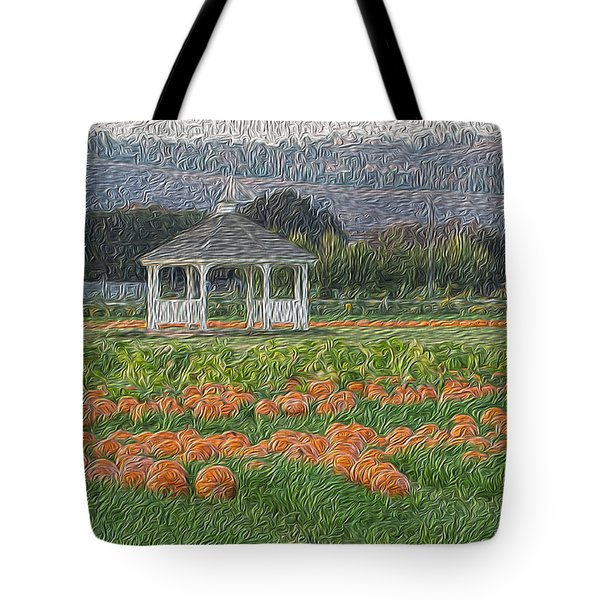 Pumpkin Field Tote Bag