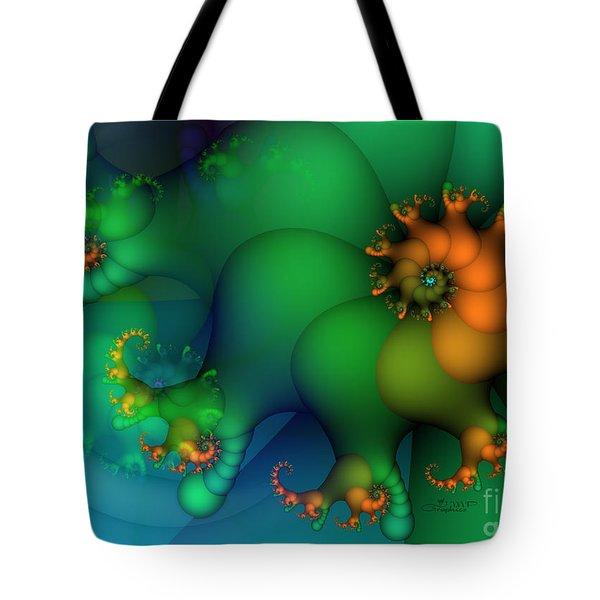 Pumpkin Garden Tote Bag by Jutta Maria Pusl