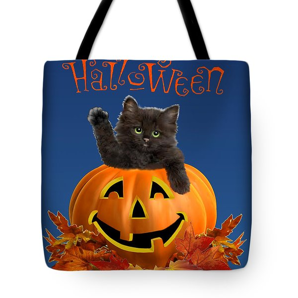 Pumpkin Kitty Tote Bag