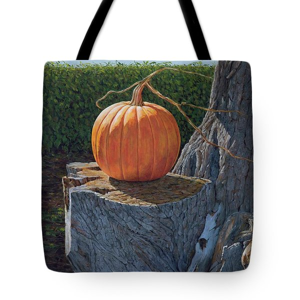 Pumpkin On A Dead Willow Tote Bag