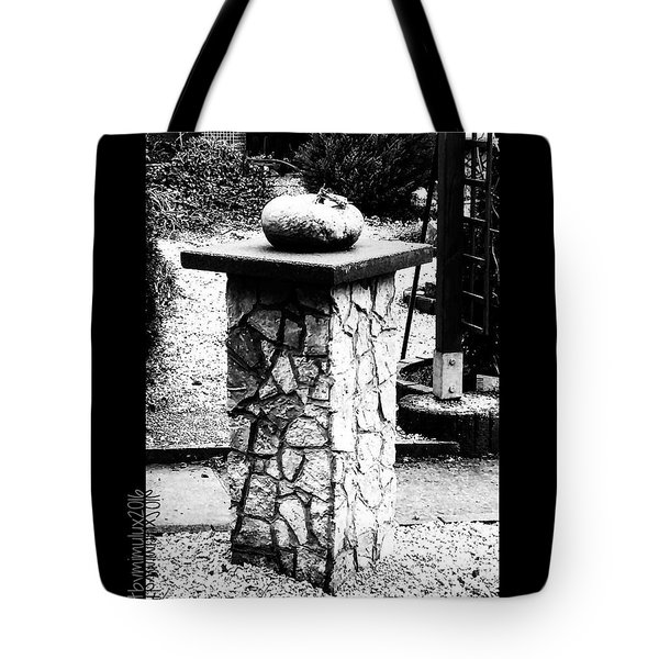 Pumpkin On A Pedestal Tote Bag