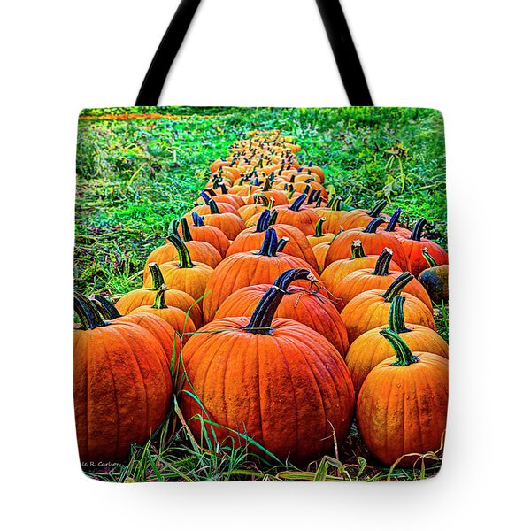 Pumpkin Patch Tote Bag by Dale R Carlson