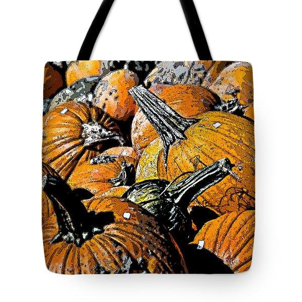 Pumpkin Sale  Tote Bag by Juls Adams