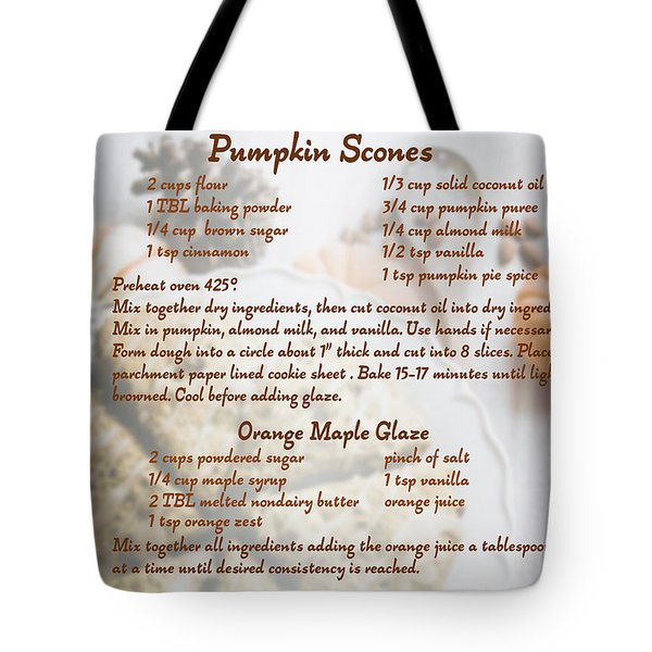 Pumpkin Scones Recipe Tote Bag