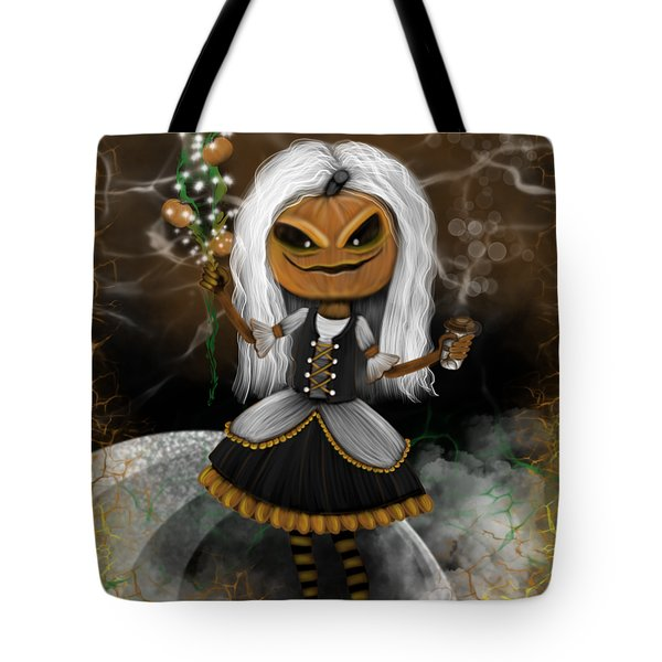 Pumpkin Spice Latte Monster Fantasy Art Tote Bag