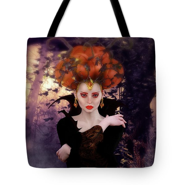 Pumpkin Witch Tote Bag