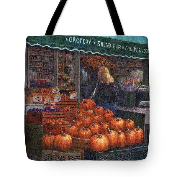 Pumpkins For Sale Tote Bag by Susan Savad