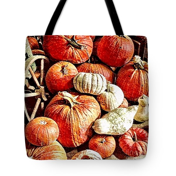 Pumpkins In The Barn Tote Bag