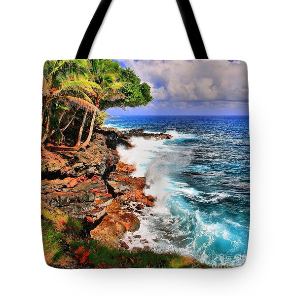 Tote Bag featuring the photograph Puna Coast Hawaii by DJ Florek