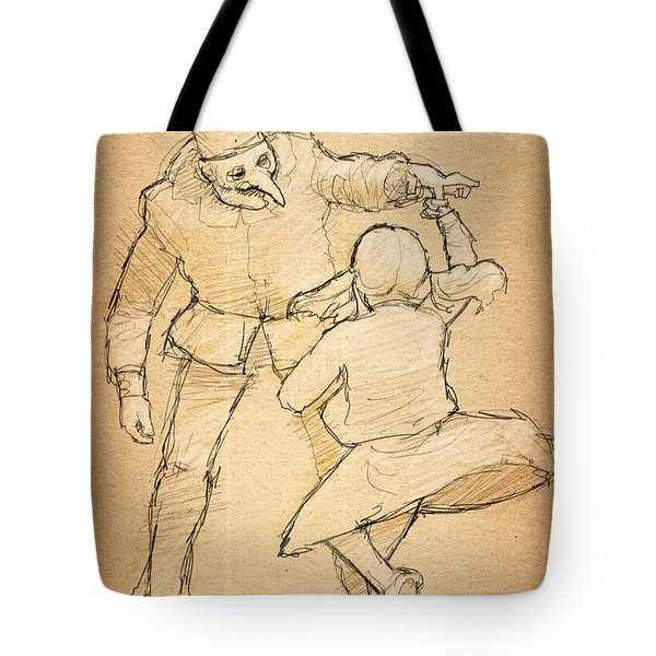 Punch And Little Judy Tote Bag