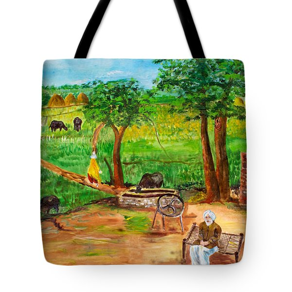 Punjabi Farmer Tote Bag