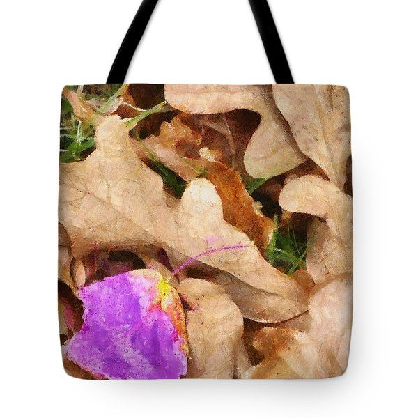 Punk Leaf Tote Bag by Jeff Kolker