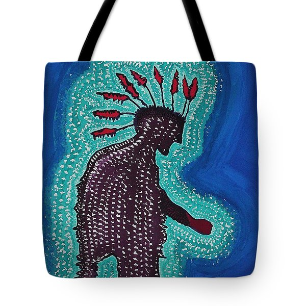 Punk Shaman Original Painting Tote Bag