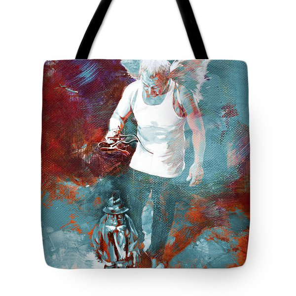 Tote Bag featuring the painting Puppet Man 003 by Gull G
