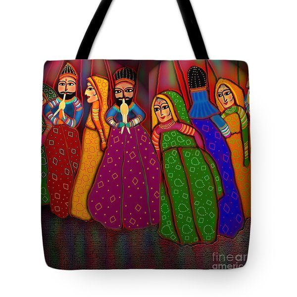 Puppet Show Tote Bag by Latha Gokuldas Panicker
