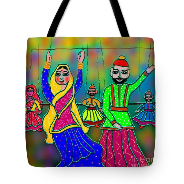 Puppets Tote Bag by Latha Gokuldas Panicker