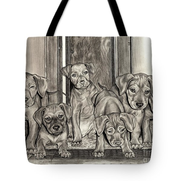 Puppies  Tote Bag