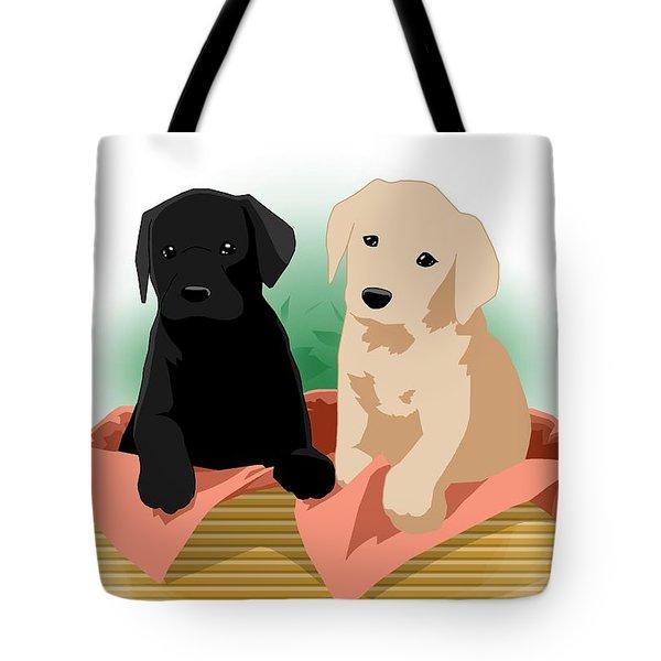 Puppy Basket Tote Bag