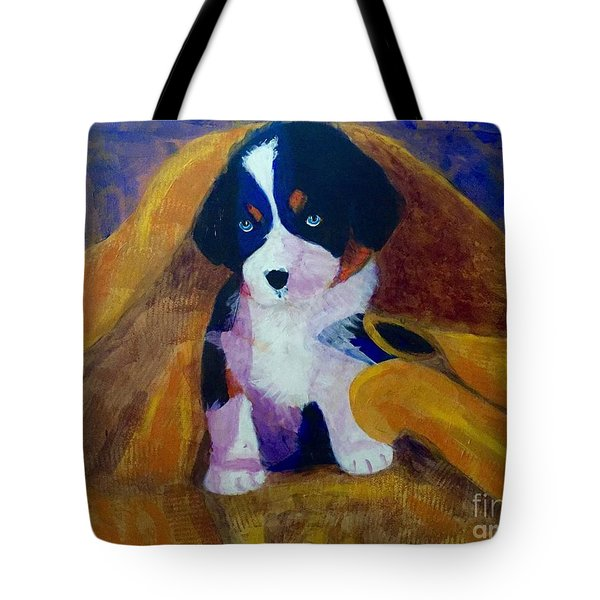 Puppy Bath Tote Bag by Donald J Ryker III