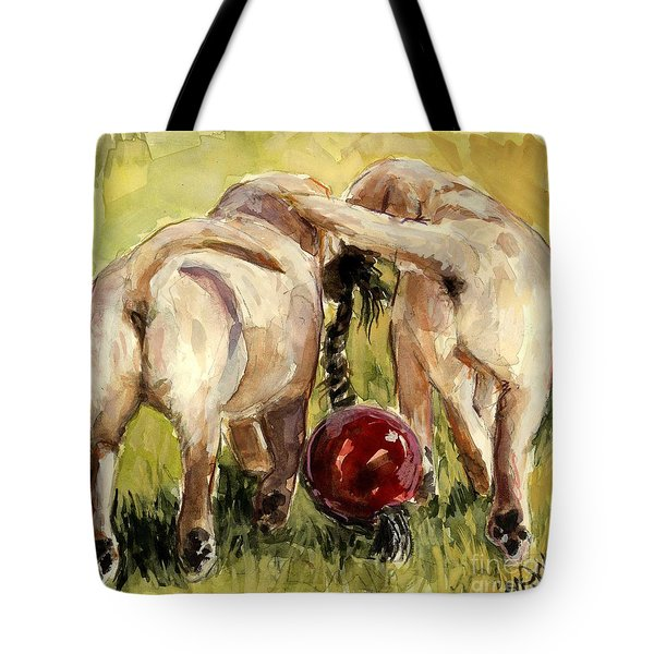 Puppy Butts Tote Bag by Molly Poole