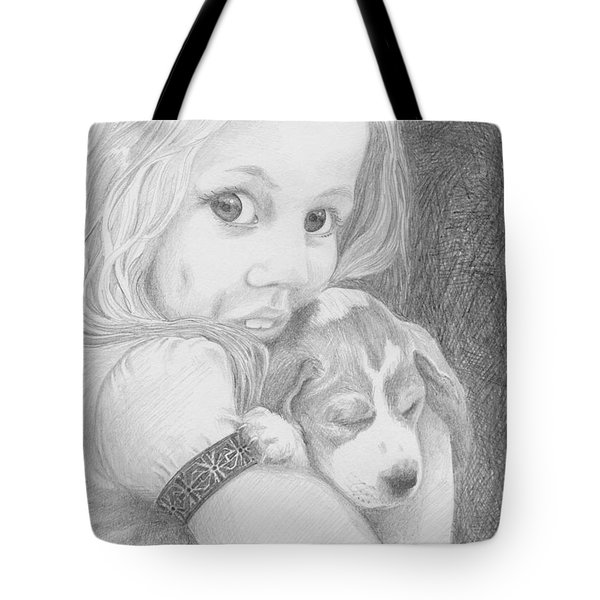 Puppy Dog Eyes Tote Bag