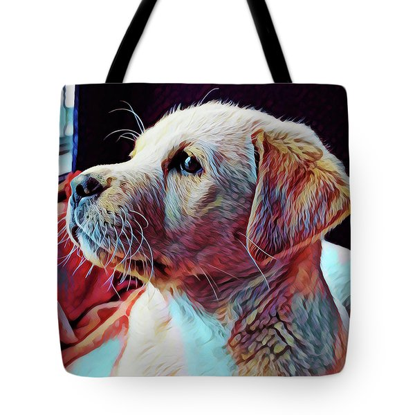 Puppy Dog Tote Bag by Gary Grayson