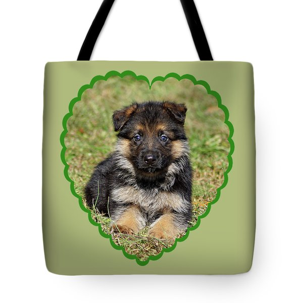 Tote Bag featuring the photograph Puppy In Heart by Sandy Keeton
