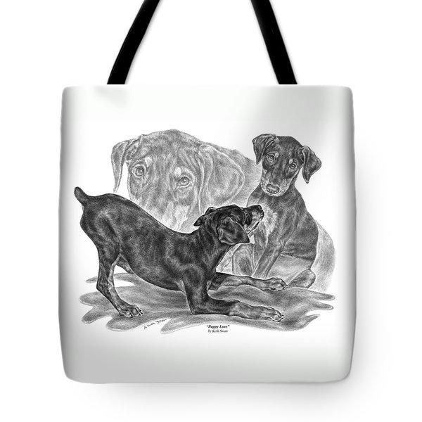 Puppy Love - Doberman Pinscher Pup Tote Bag