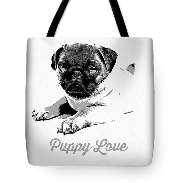 Puppy Love Tote Bag by Edward Fielding