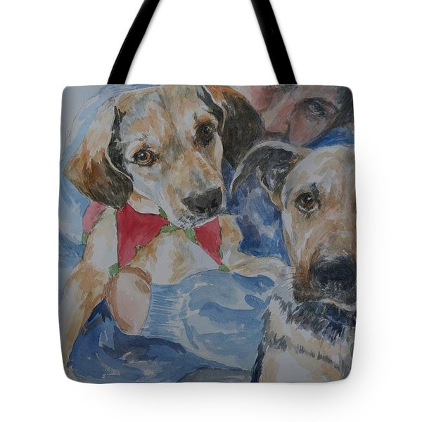 Tote Bag featuring the painting Puppy Love by Gloria Turner