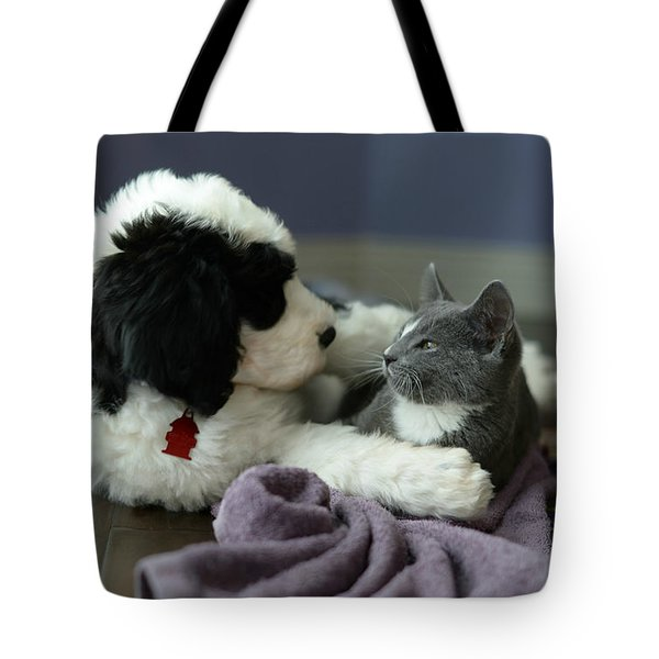 Tote Bag featuring the photograph Puppy Love by Linda Mishler