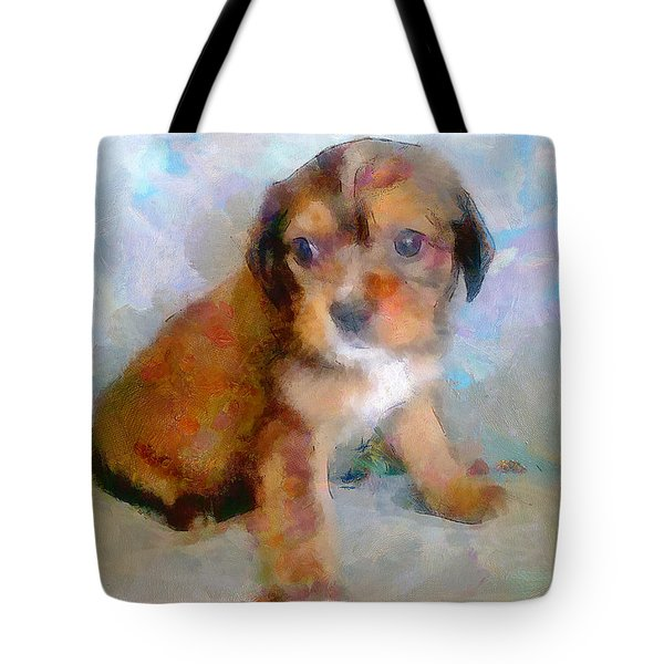 Puppy Love Tote Bag by Wayne Pascall