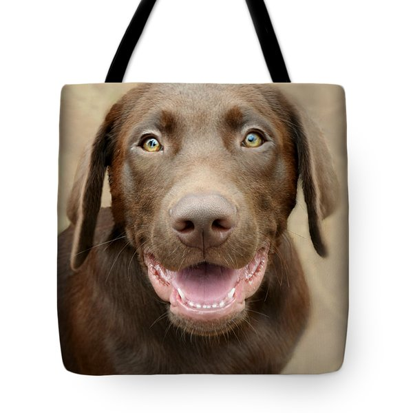 Puppy Power Tote Bag by Kathy M Krause