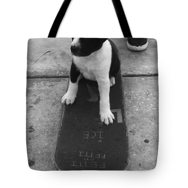 Puppy Skater Tote Bag
