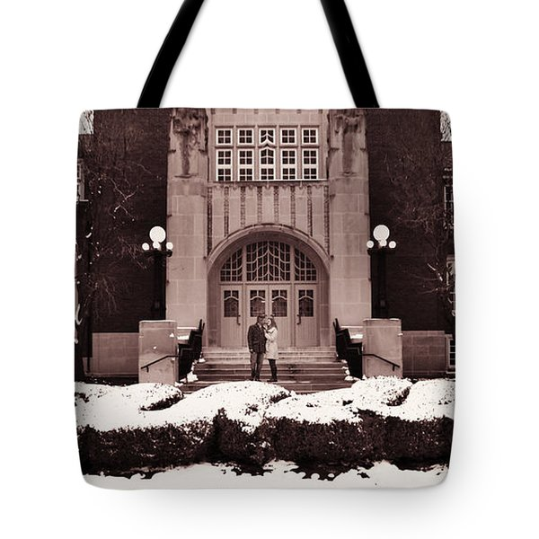 Tote Bag featuring the photograph Purdue Engagement by Coby Cooper