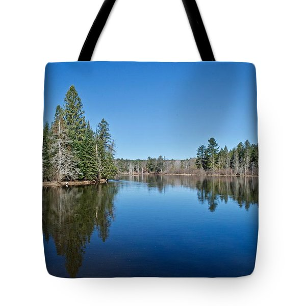 Tote Bag featuring the photograph Pure Blue Waters 1772 by Michael Peychich