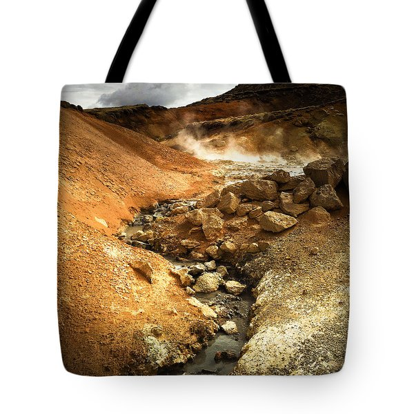 Pure Iceland - Geothermal Area Krysuvik Tote Bag