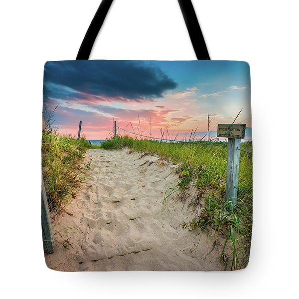 Tote Bag featuring the photograph Pure Michigan Sunset by Sebastian Musial