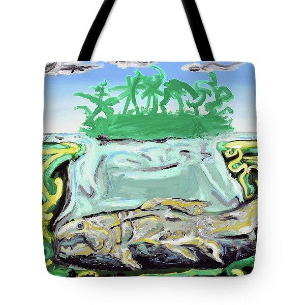 Tote Bag featuring the painting Purgatorium Praedator by Ryan Demaree