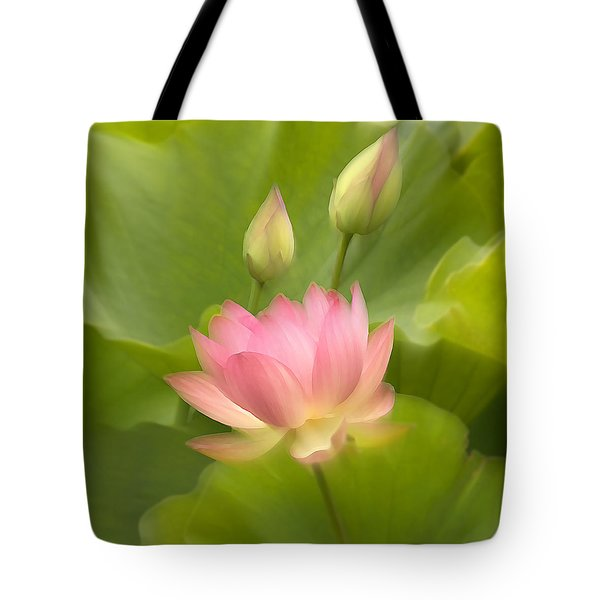 Tote Bag featuring the photograph Purity Reborn by John Poon