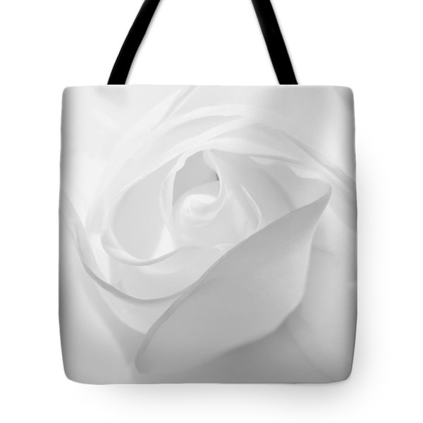 Purity - White Rose Tote Bag