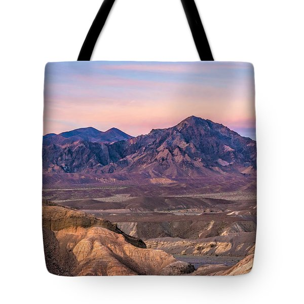 Purlpleish Desert Mountains Tote Bag