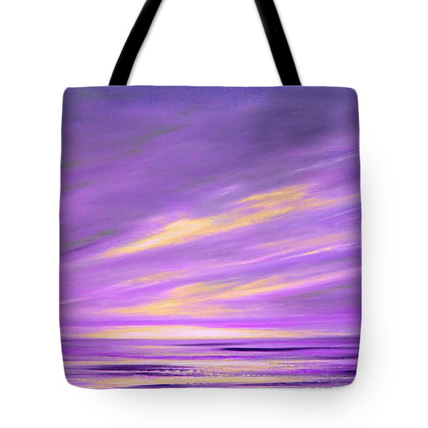 Purple Abstract Sunset Tote Bag