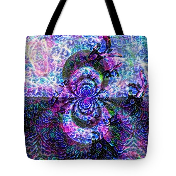 Purple Abstraction Tote Bag