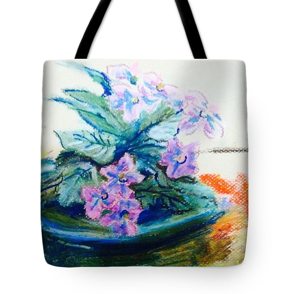 Purple  African Violet  Tote Bag