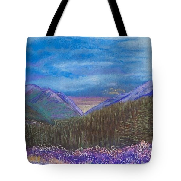Purple Alaska Tote Bag